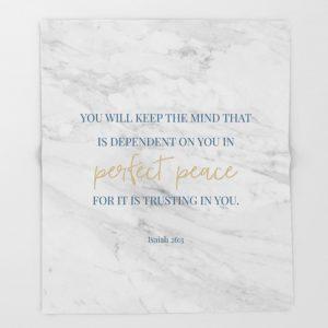 Isaiah 26:3 Blanket